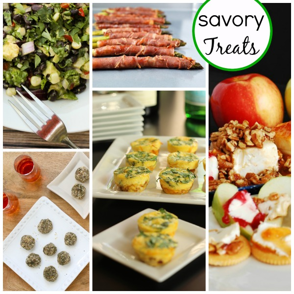 a collage of savory treats for the holidays