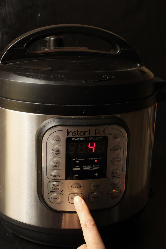instant pot set to 4 minutes