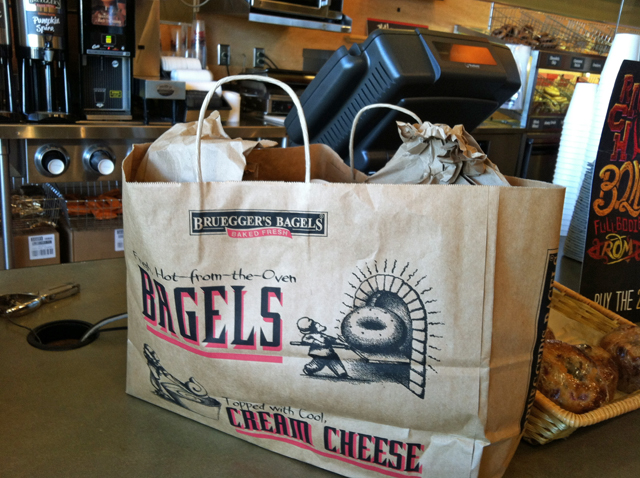 Behind the Taste of Bruegger's Bagels (Giveaway) - Enter to win a $25 gift certificate from Bruegger's.