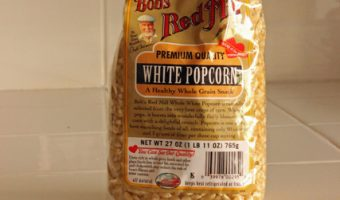 bag of popcorn on counter