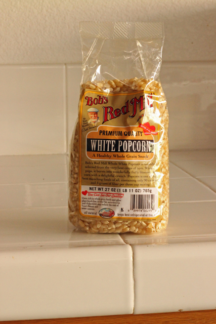 Real Food Products We Love - Bob's Red Mill Popcorn I love to find whole food products, just plain old ingredients, that taste great and fit the budget. This White Popcorn from Bob's Red Mill is one of them.