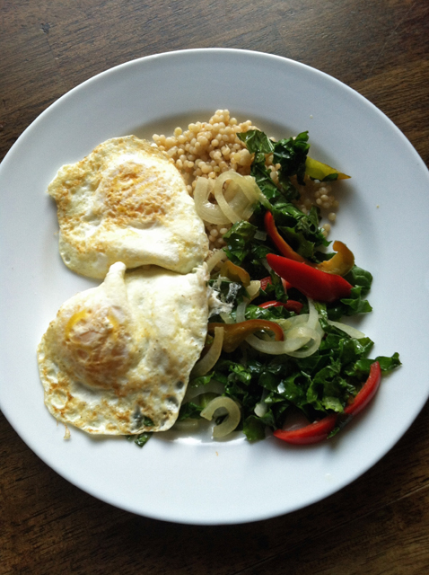 eggs and couscous