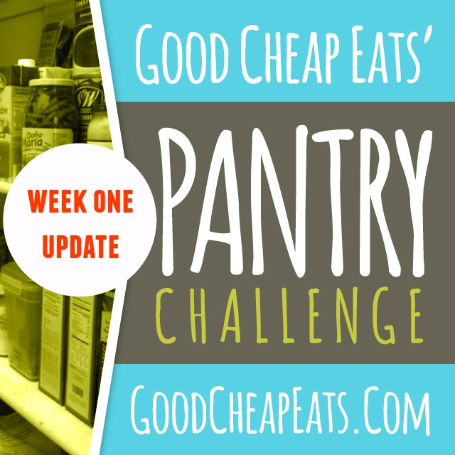 Pantry Challenge Update, Week 1 - How did the first week of the Pantry Challenge go for you? Here's my update for eating down the pantry.