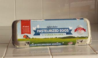 carton of safe eggs on a counter