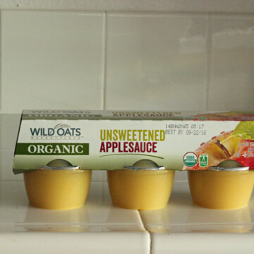 package of applesauce cups on counter