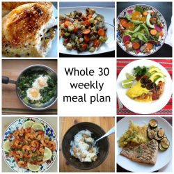 whole 30 weekly meal plan