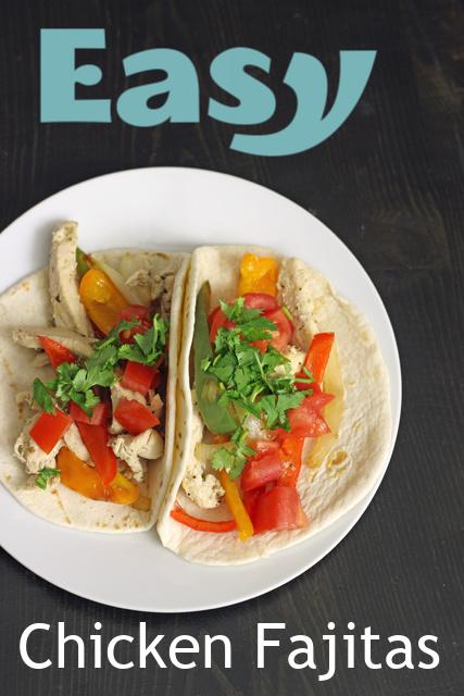chicken fajita tacos on plate