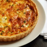 Ham and Gruyere Quiche with Leeks