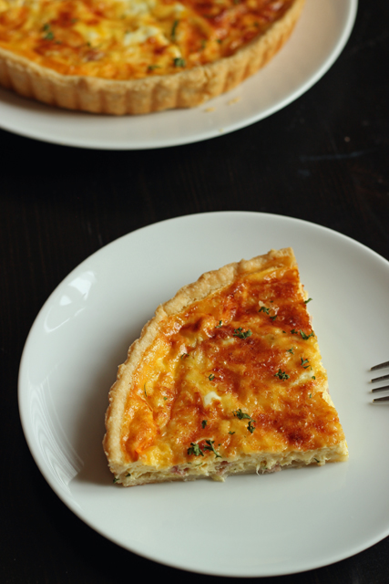 Ham and Gruyere Quiche with Leeks | Good Cheap Eats