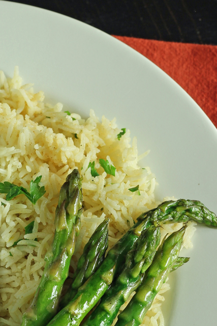 baked rice on plate