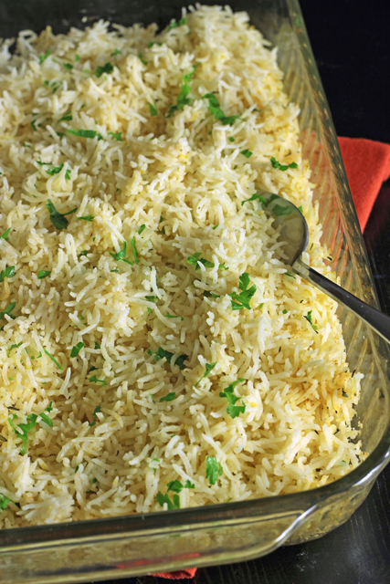 Baked Rice with Lemon and Thyme