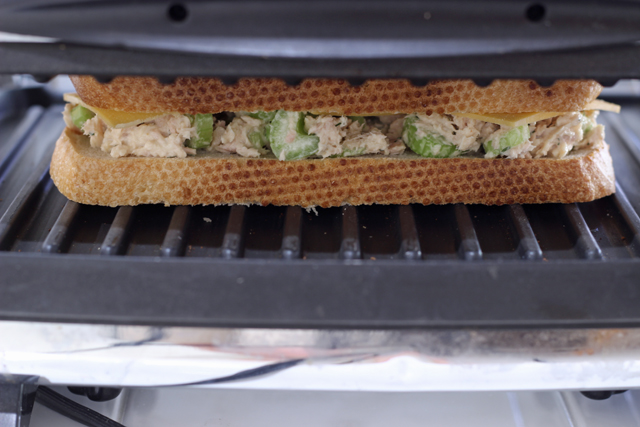 tuna melt sandwich Panini press