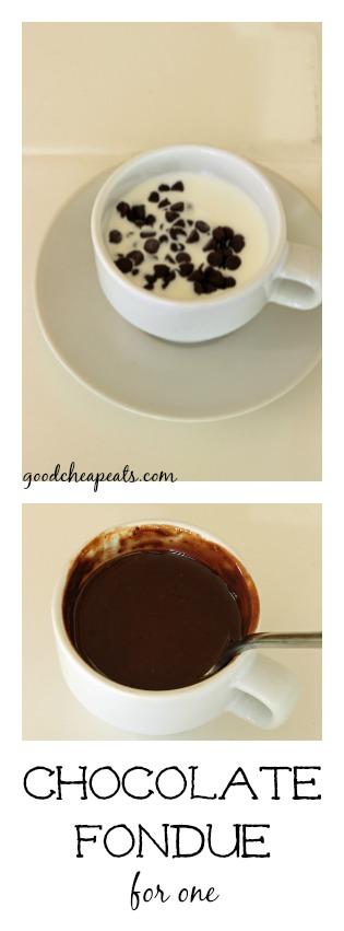 Chocolate Fondue for One prep