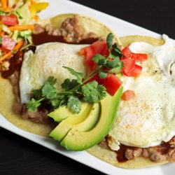 Huevos Rancheros on plate