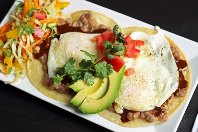 A plate of huevos rancheros