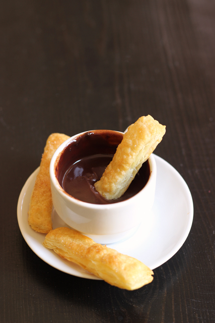 fondue for one with cinnamon dipper