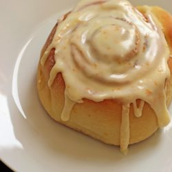glazed orange sweet roll 2