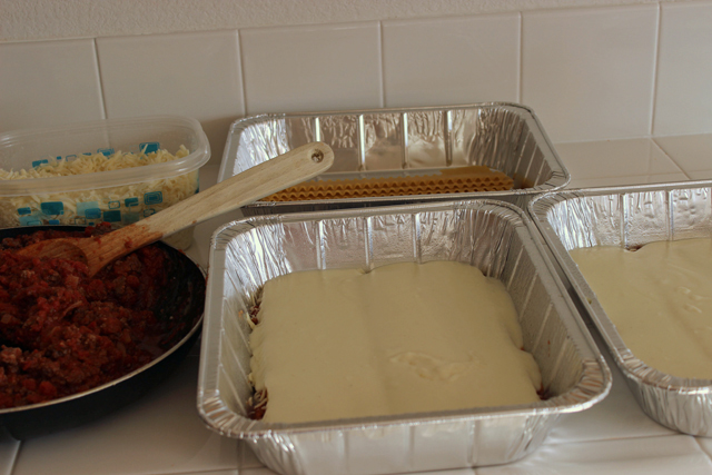 cheese added to freezer lasagnas