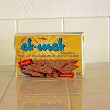 box of akmak on a counter