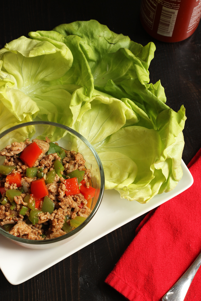Turkey and Pepper Lettuce Wraps