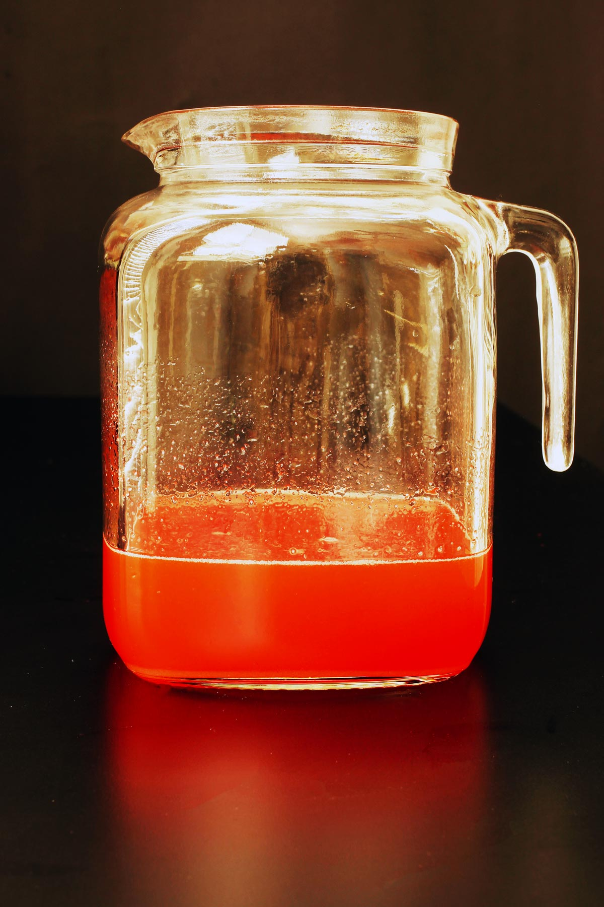 juices and sugar combined in pitcher