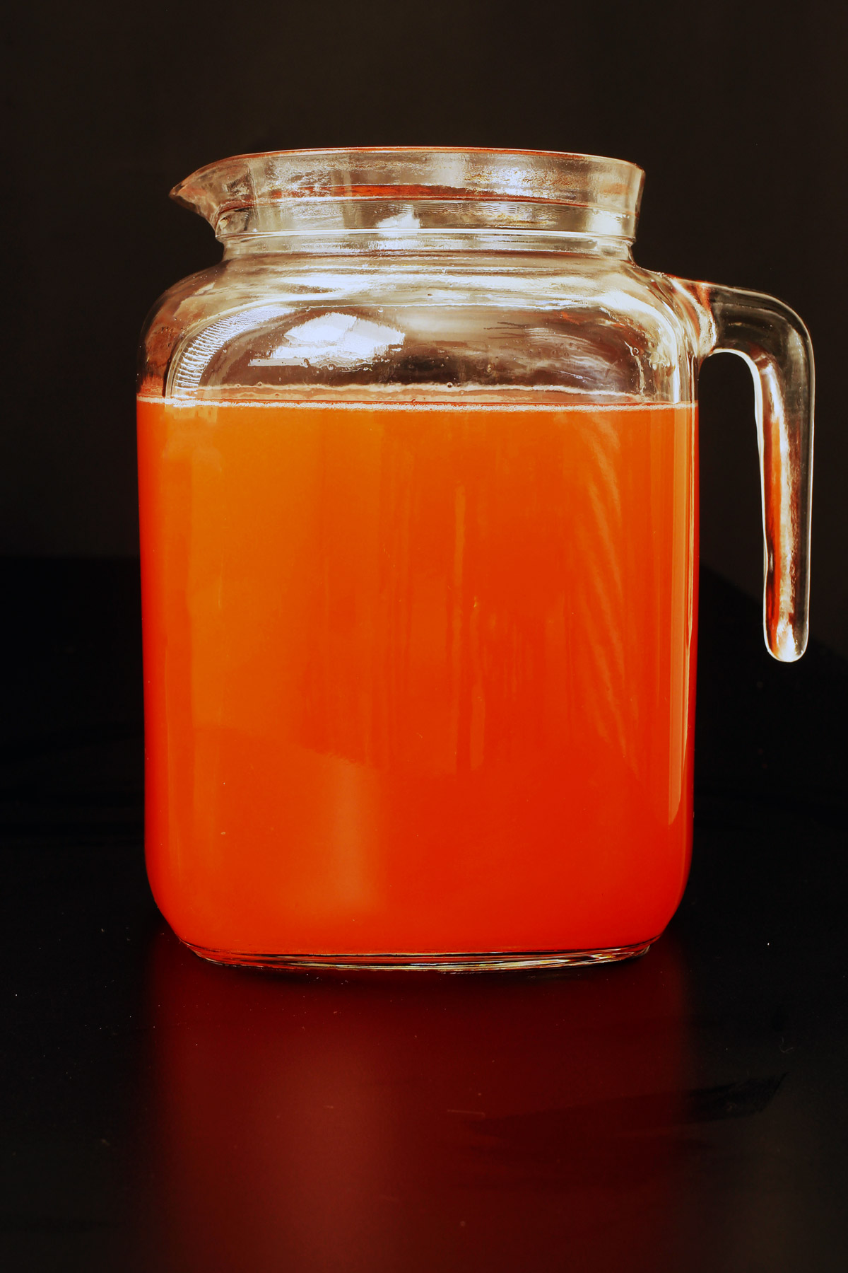 water added to the pitcher