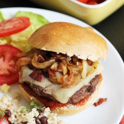 BBQ Bacon Onion Cheeseburger