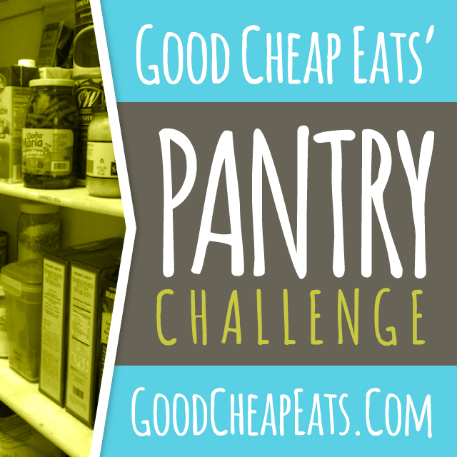 Pantry Challenge June 2015 | Good Cheap Eats - Looking to save money on groceries this month? Consider doing a pantry challenge and using up what you've already paid for.