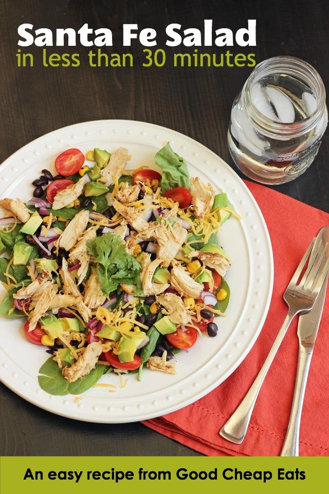 Santa Fe Salad on a plate