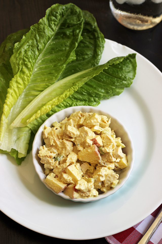 Curry Chicken Salad Lettuce Wraps | Curry Chicken Salad
