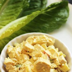 chicken curry lettuce wraps