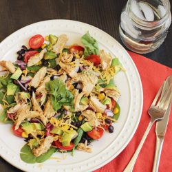 Santa Fe Salad with Chicken, Corn, & Black Beans