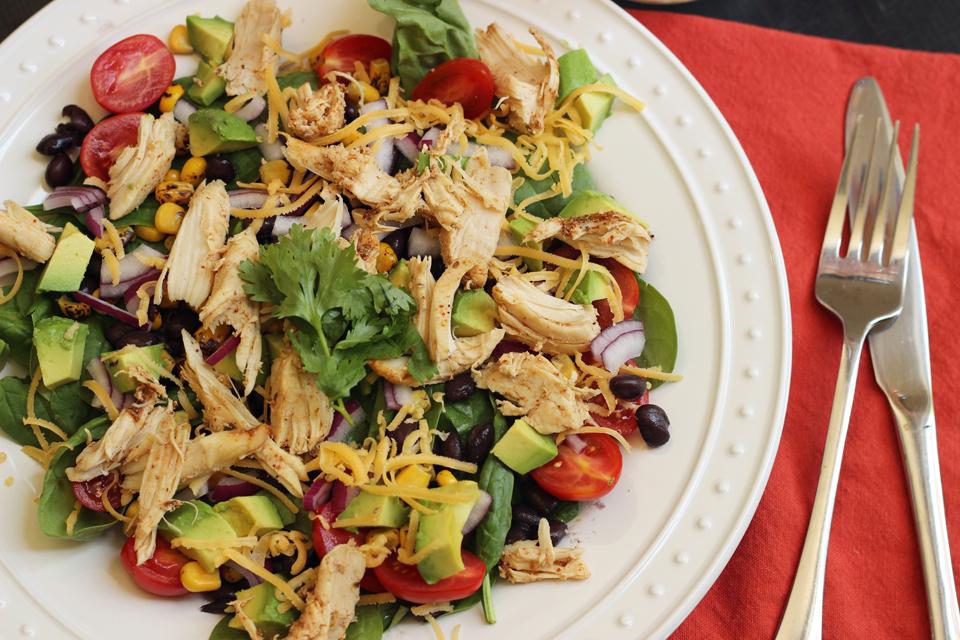 Santa Fe Salad with Chicken and Corn