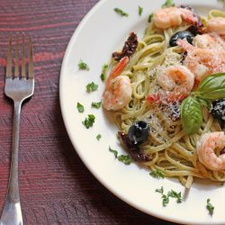 Pesto Shrimp Linguine Salad | Good Cheap Eats