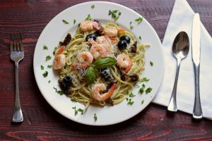 Pesto Shrimp Linguine from Good Cheap Eats