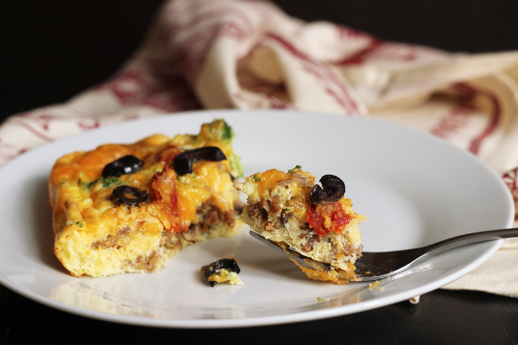 Sausage Vegetable Frittata from Good Cheap Eats