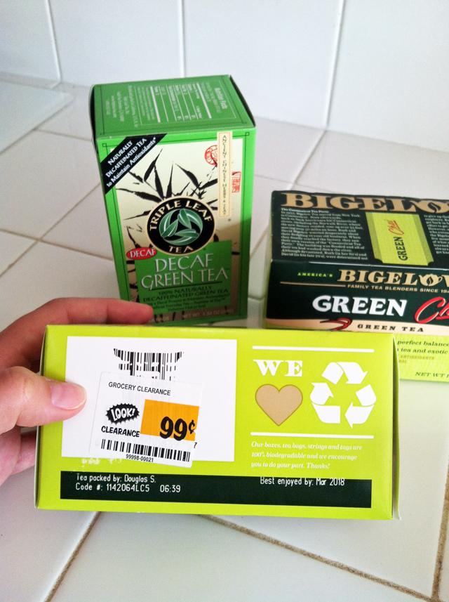 clearance green tea