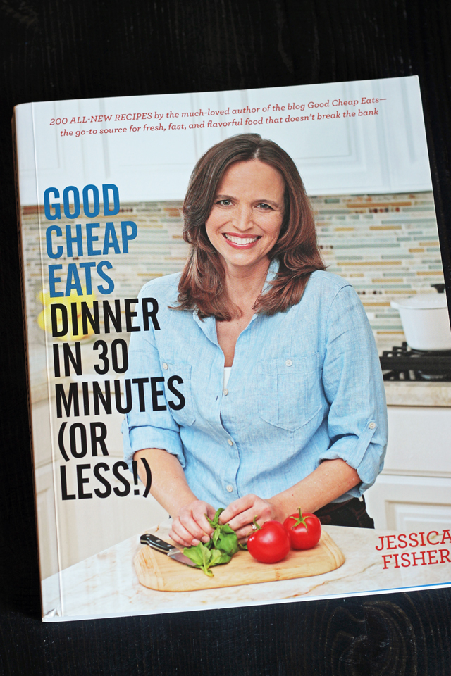 30-minute meals cookbook on table