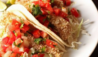 A plate of fish tacos