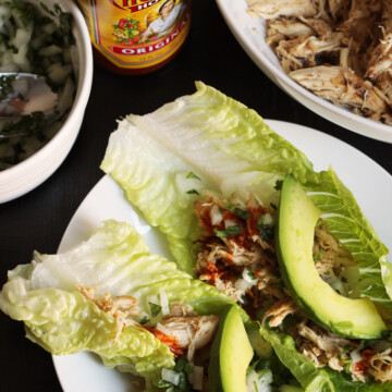 chicken street taco lettuce wraps