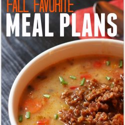 FALL MEAL PLANS