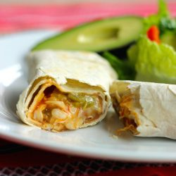Green Chile Burritos for book promotion