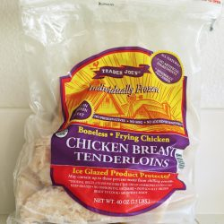 bag of frozen chicken breast tenderloins
