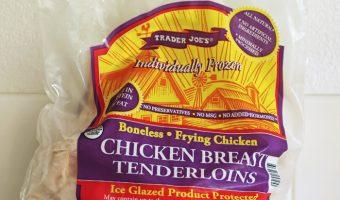 bag of frozen chicken breast tenderloins