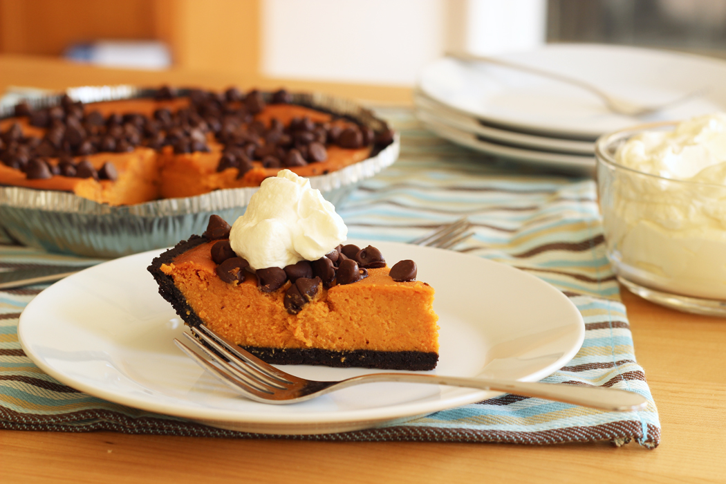 Chocolate Chip Pumpkin Pie | Good Cheap Eats