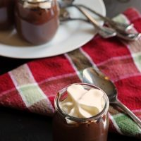 Chocolate Pudding cups with spoons