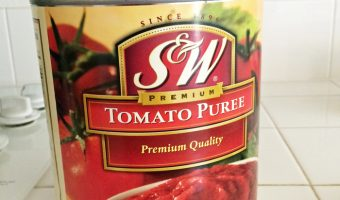 A huge can of tomato puree