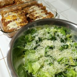 enchiladas and salad