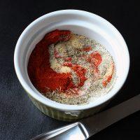 spice blend swirled in dish