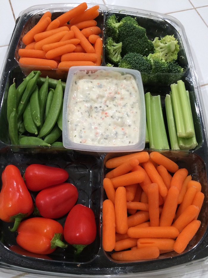 veggie tray sprouts